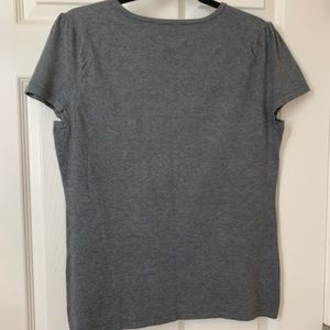 INC International Concepts Tops - INC Petite Woman's knitted grey blouse